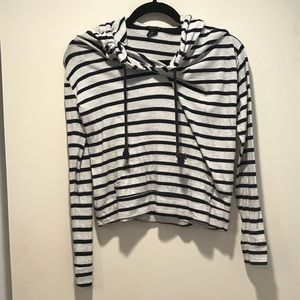 Cropped striped F21 hoodie